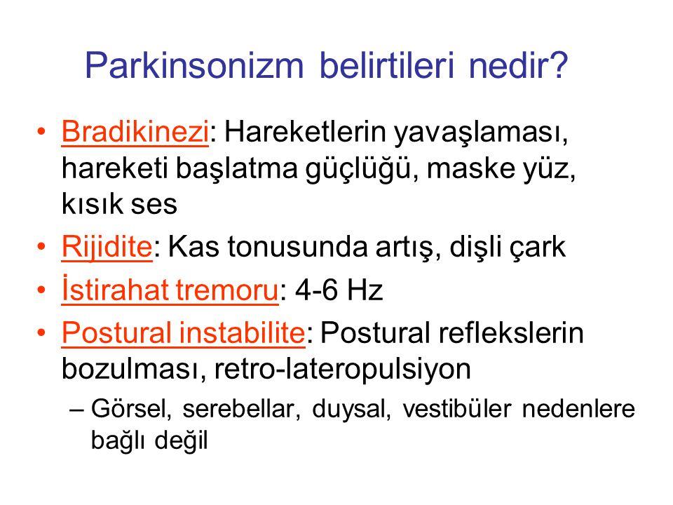 Parkinsonizm belirtileri nedir