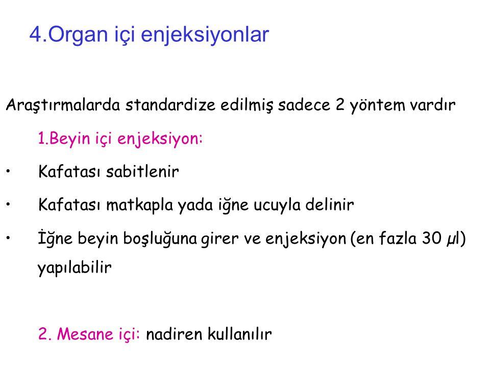4.Organ içi enjeksiyonlar