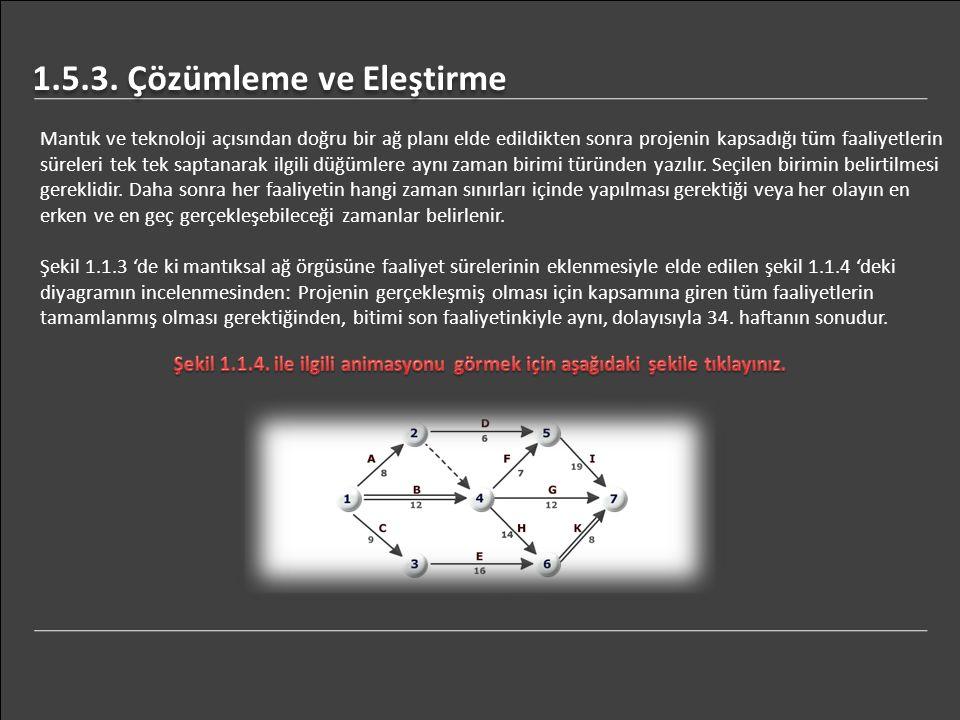1.5.3. Çözümleme ve Eleştirme