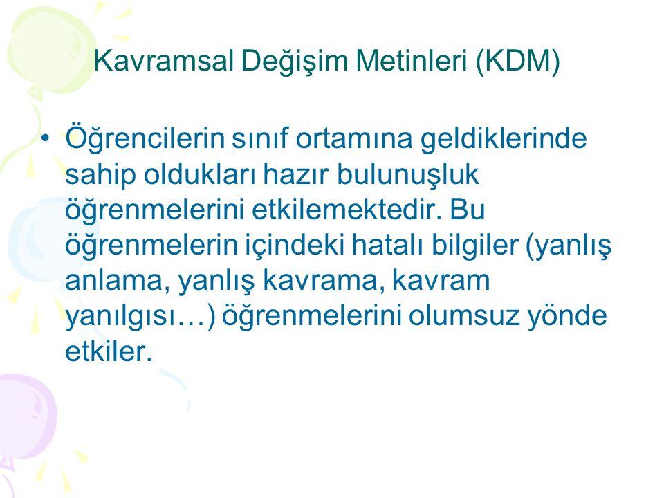 Kavramsal Değişim Metinleri (KDM)