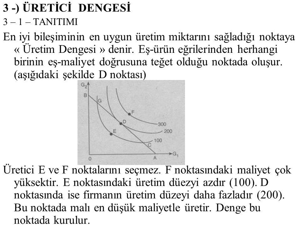 3 -) ÜRETİCİ DENGESİ 3 – 1 – TANITIMI.