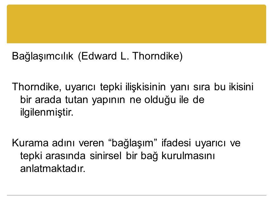 Bağlaşımcılık (Edward L