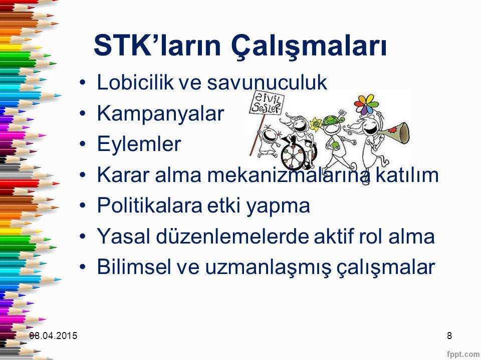 STK'ların Çalışmaları