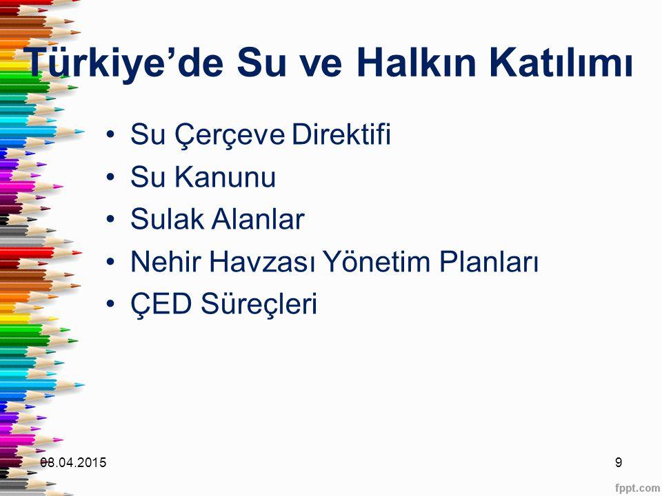 Türkiye'de Su ve Halkın Katılımı