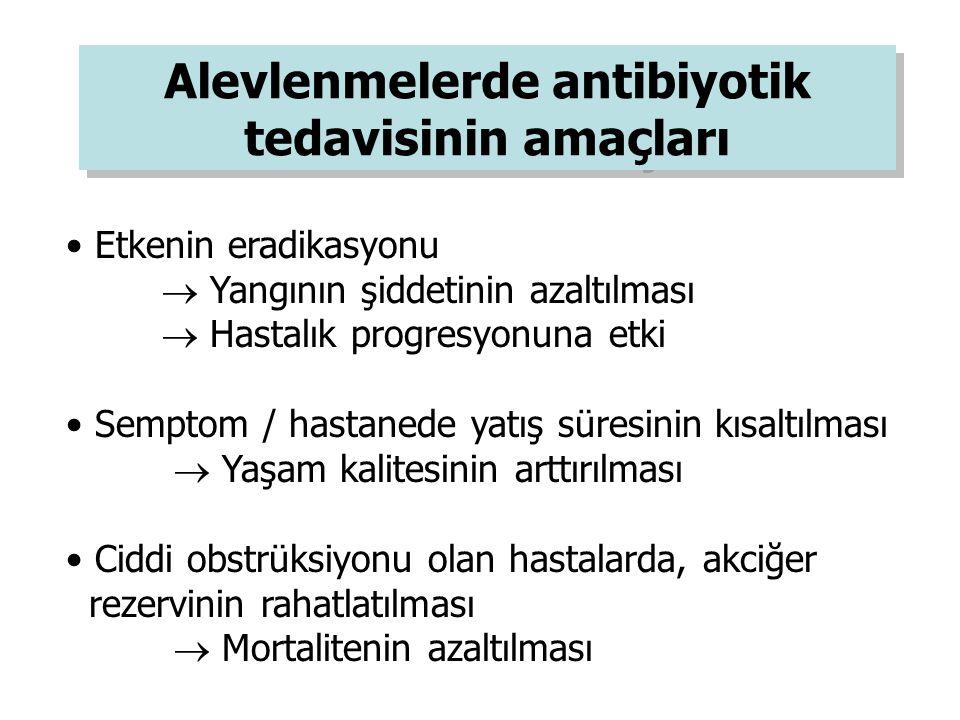 Alevlenmelerde antibiyotik tedavisinin amaçları