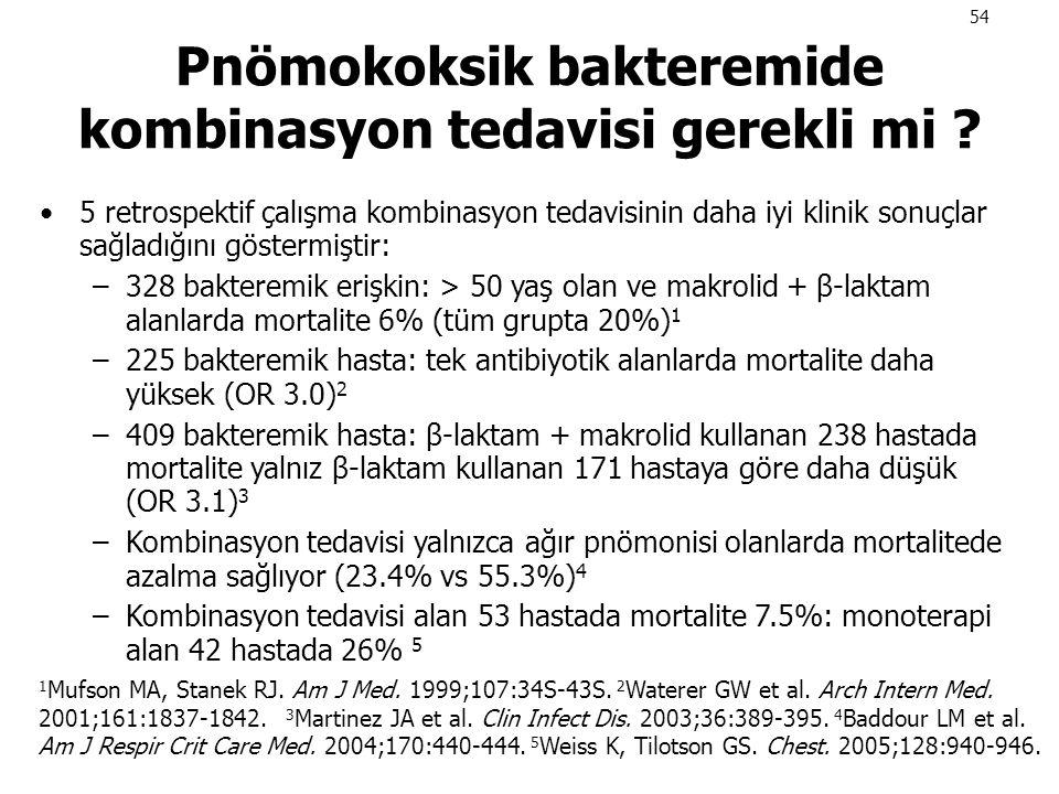 Pnömokoksik bakteremide kombinasyon tedavisi gerekli mi