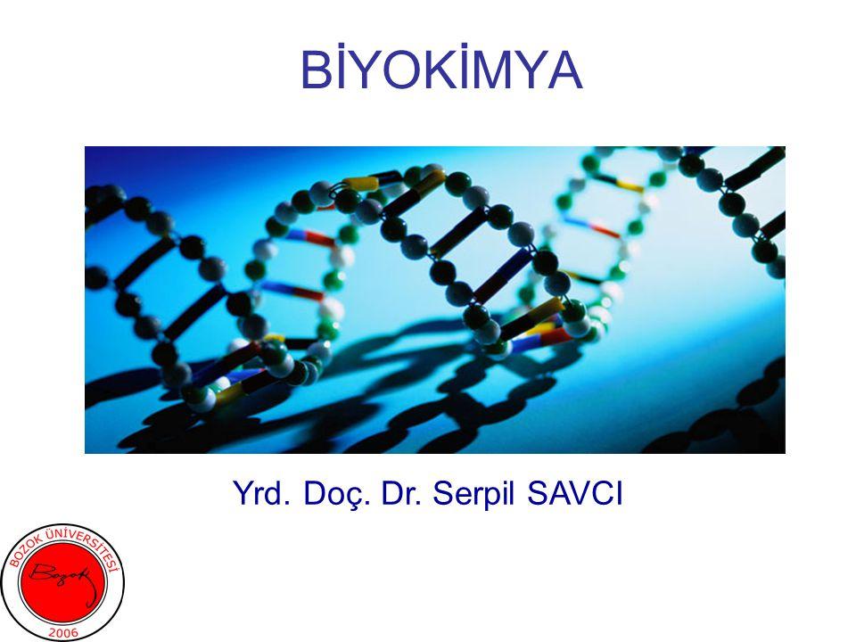 BİYOKİMYA Yrd. Doç. Dr. Serpil SAVCI