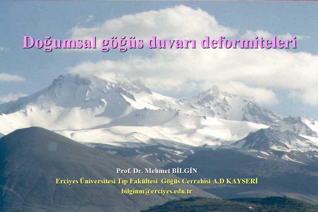 Doğumsal göğüs duvarı deformiteleri