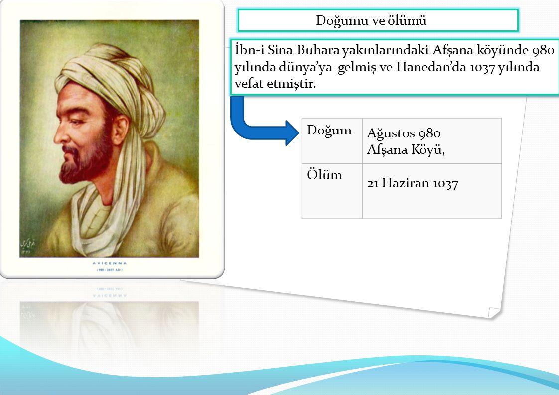 Doğumu ve ölümü İbn-i Sina Buhara yakınlarındaki Afşana köyünde 980 yılında dünya'ya gelmiş ve Hanedan'da 1037 yılında vefat etmiştir.