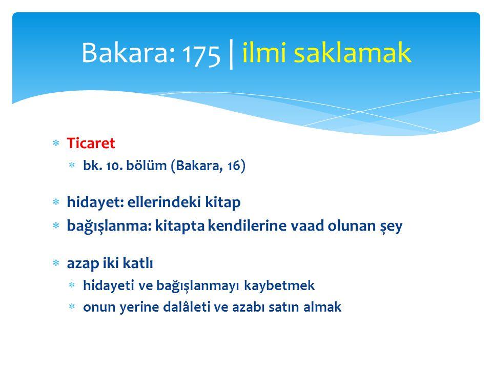 Bakara: 175 | ilmi saklamak