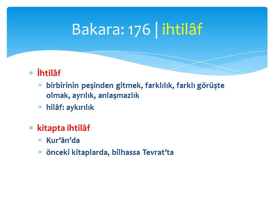 Bakara: 176 | ihtilâf İhtilâf kitapta ihtilâf