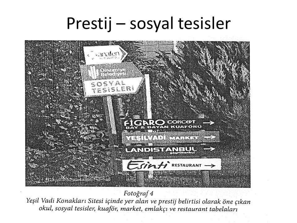 Prestij – sosyal tesisler
