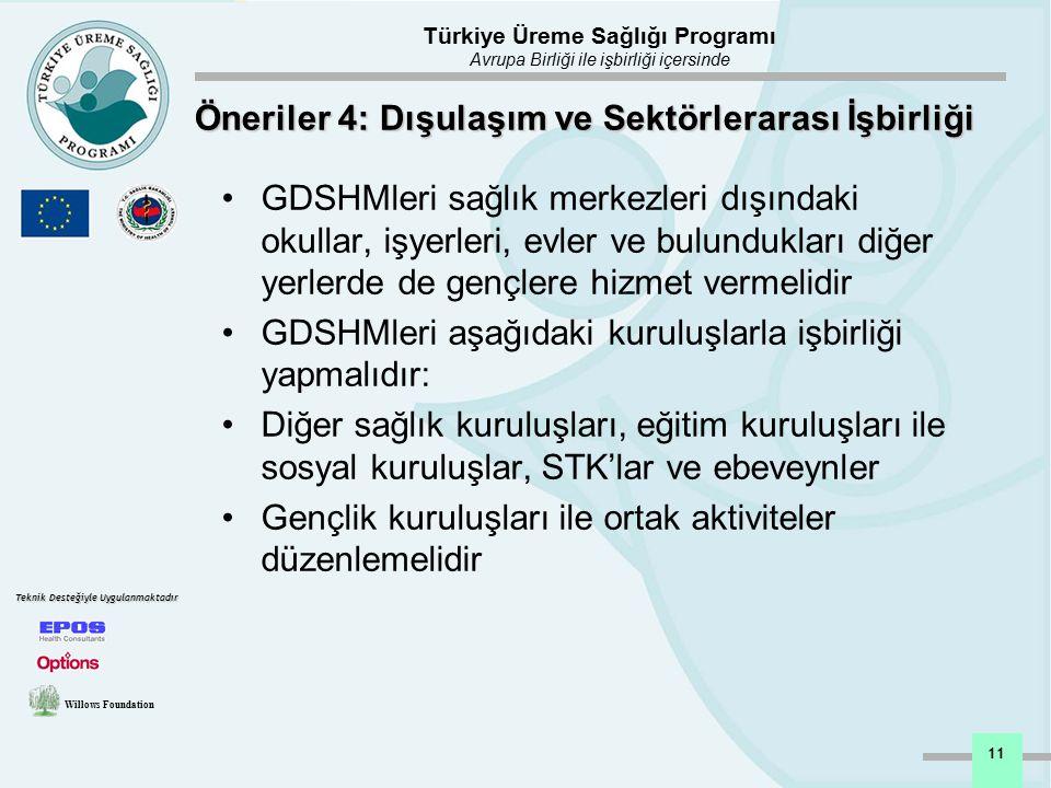 Öneriler 4: Dışulaşım ve Sektörlerarası İşbirliği