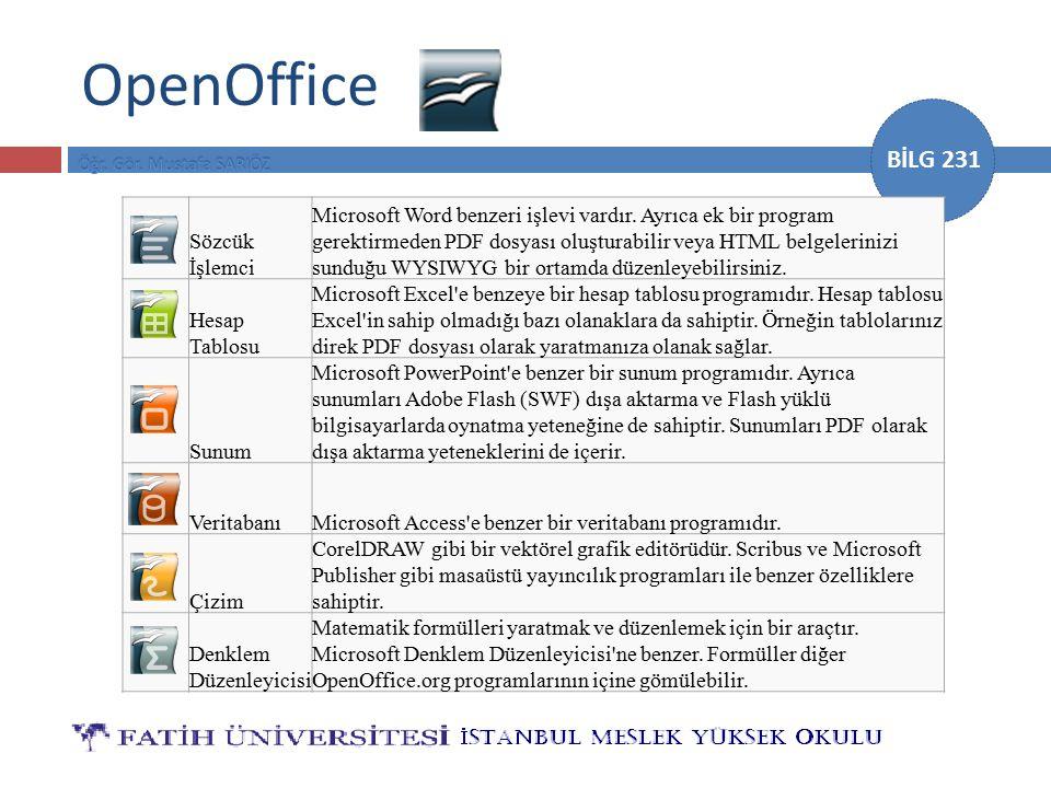 OpenOffice Sözcük İşlemci