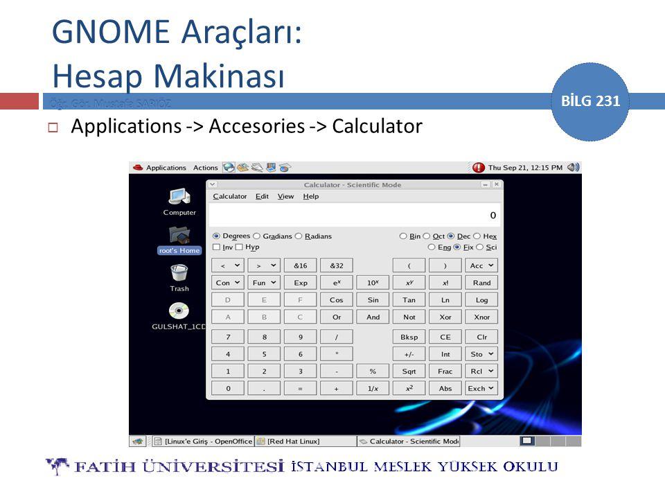 GNOME Araçları: Hesap Makinası