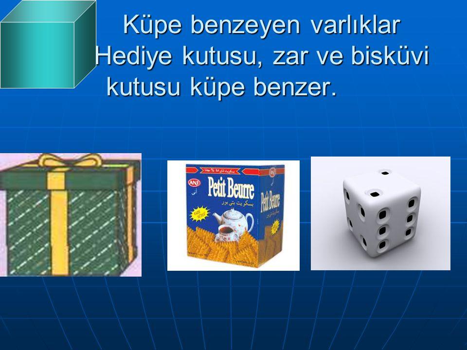 Küpe benzeyen varlıklar Hediye kutusu, zar ve bisküvi kutusu küpe benzer.