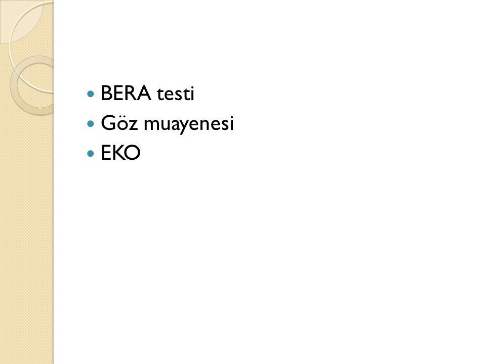 BERA testi Göz muayenesi EKO