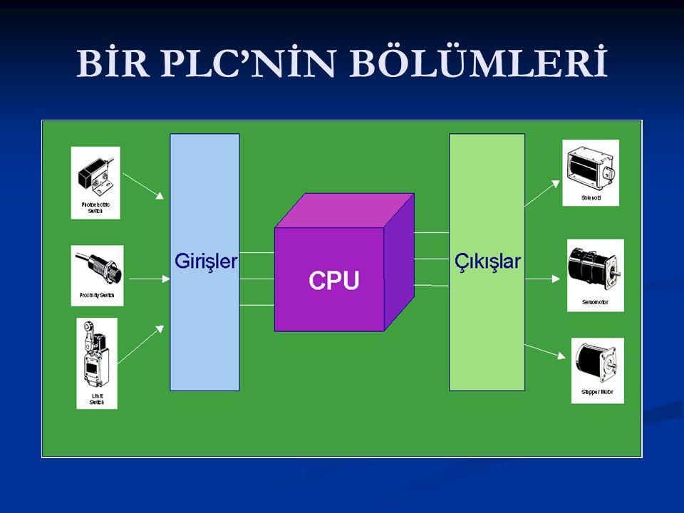 BİR PLC'NİN BÖLÜMLERİ