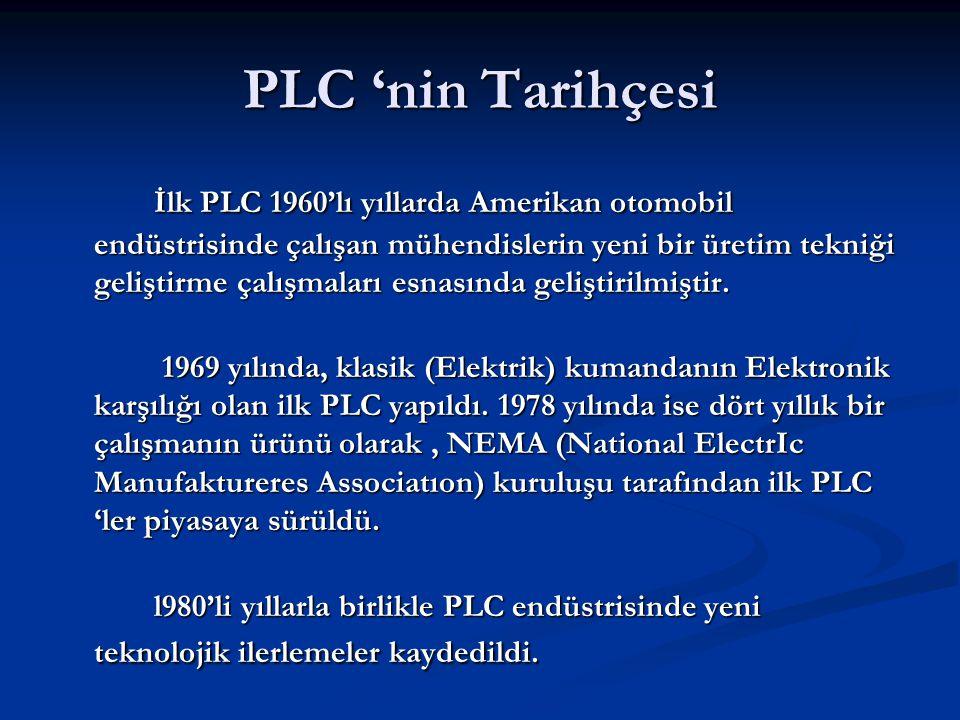 PLC 'nin Tarihçesi