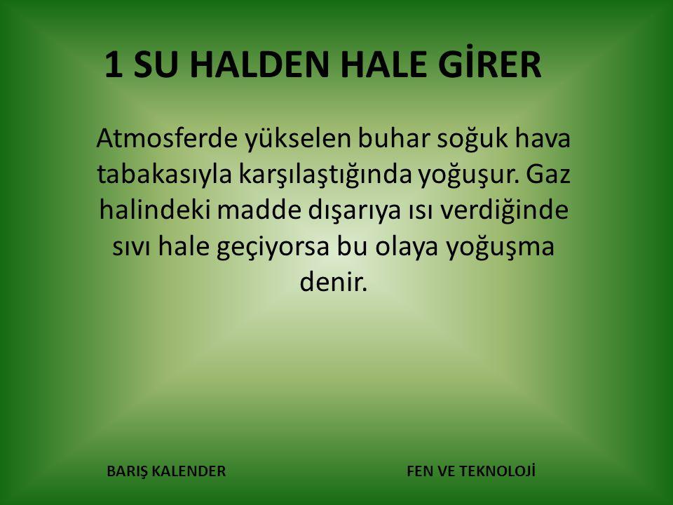 1 SU HALDEN HALE GİRER