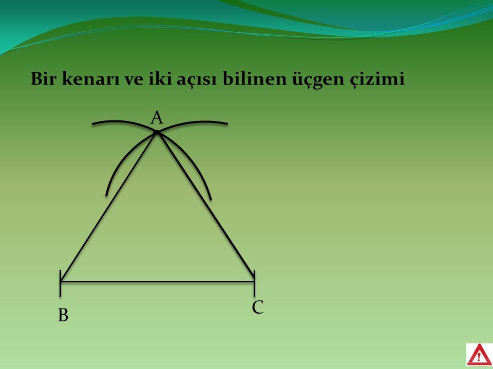 Bir kenarı ve iki açısı bilinen üçgen çizimi