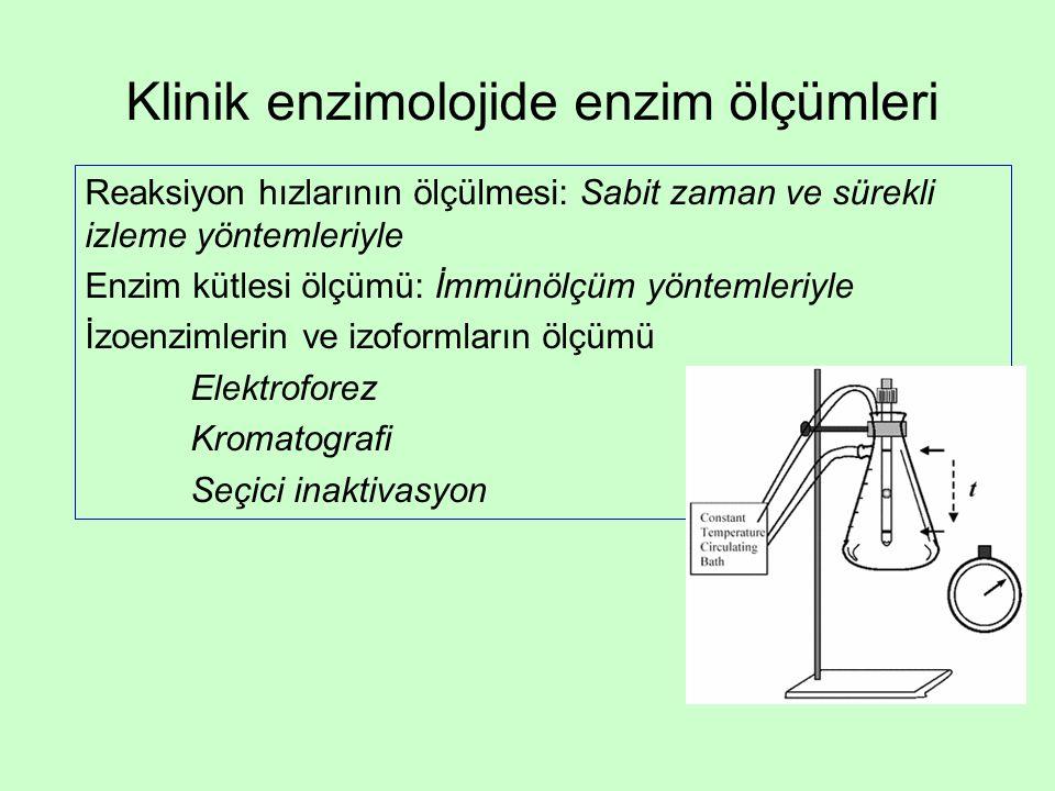 Klinik enzimolojide enzim ölçümleri