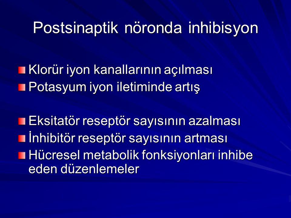 Postsinaptik nöronda inhibisyon