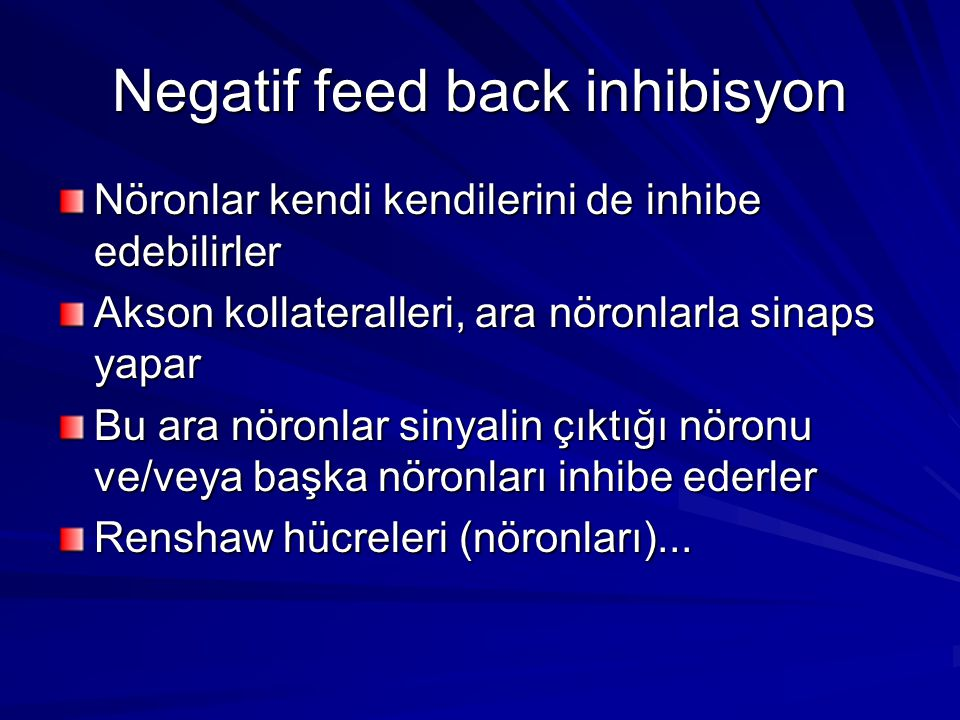Negatif feed back inhibisyon