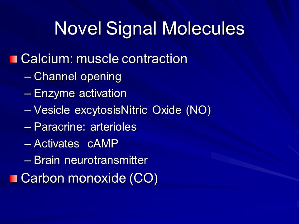 Novel Signal Molecules