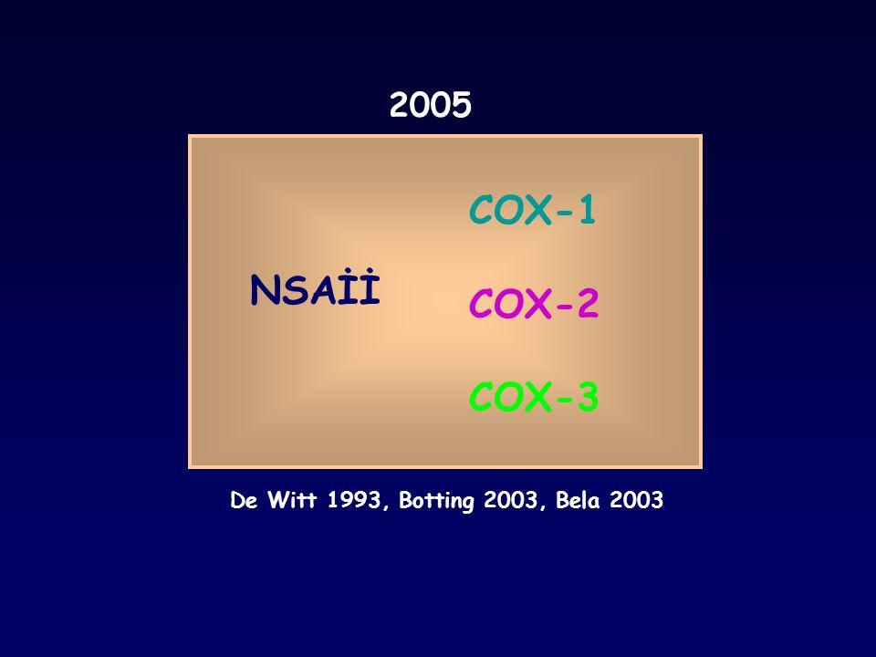 COX-1 COX-2 NSAİİ COX-3 2005 COX Asetilsalisilik asid 1971