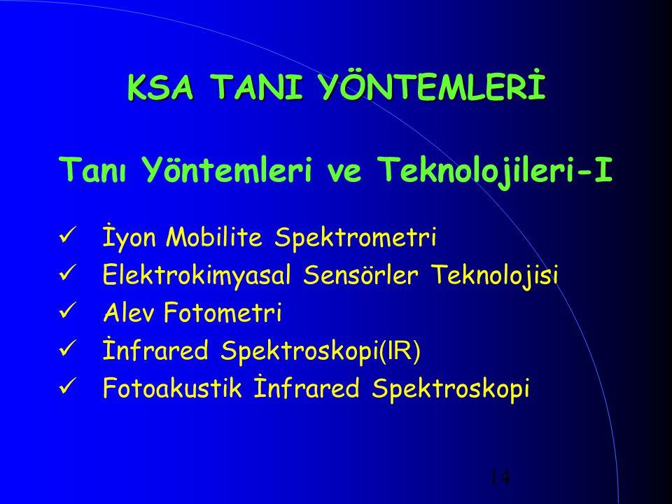Tanı Yöntemleri ve Teknolojileri-I