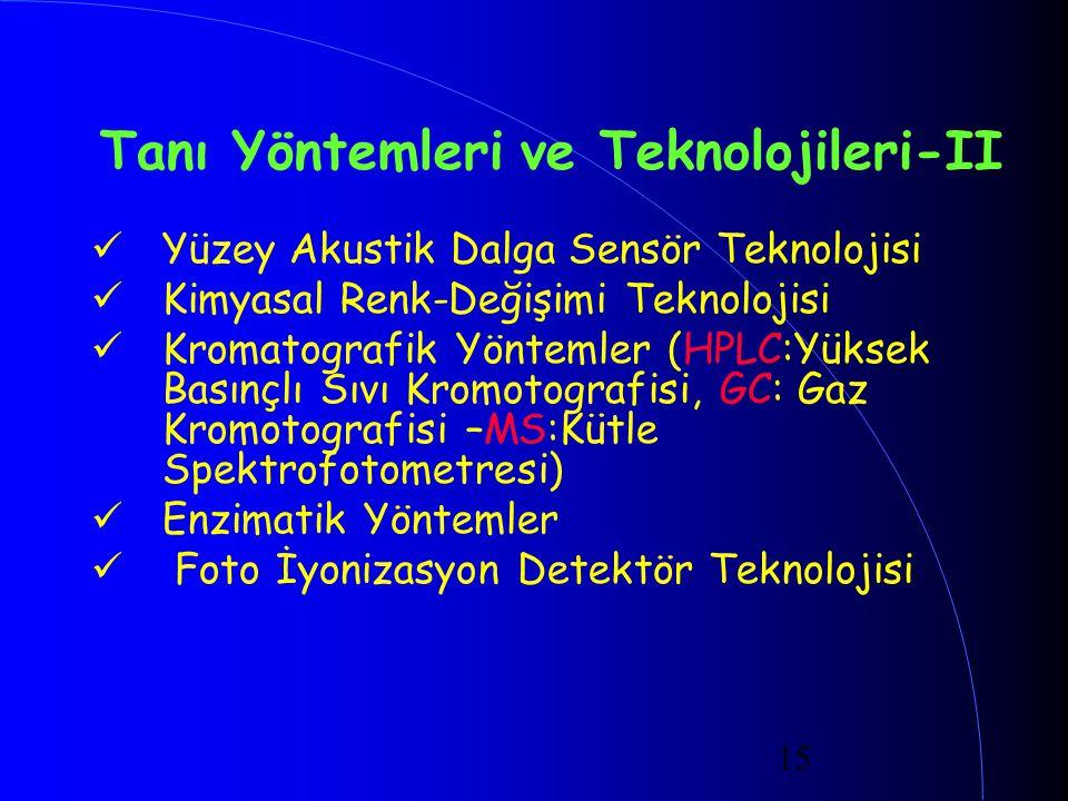 Tanı Yöntemleri ve Teknolojileri-II