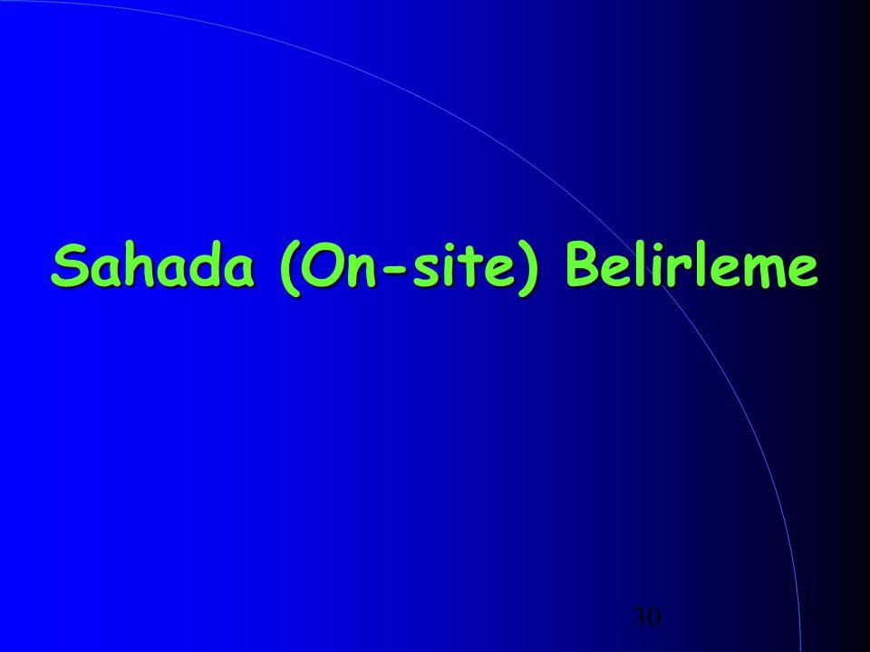 Sahada (On-site) Belirleme