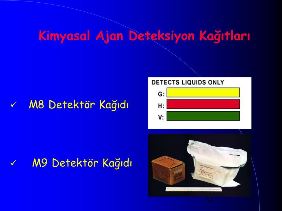 Kimyasal Ajan Deteksiyon Kağıtları