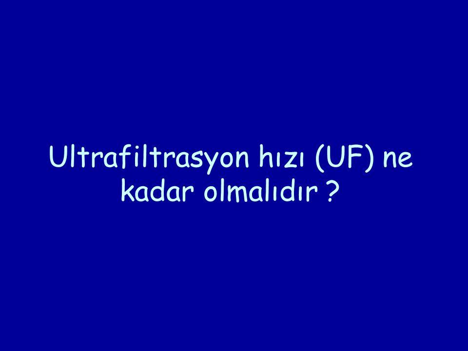 Ultrafiltrasyon hızı (UF) ne kadar olmalıdır