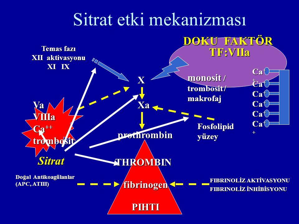 Sitrat etki mekanizması