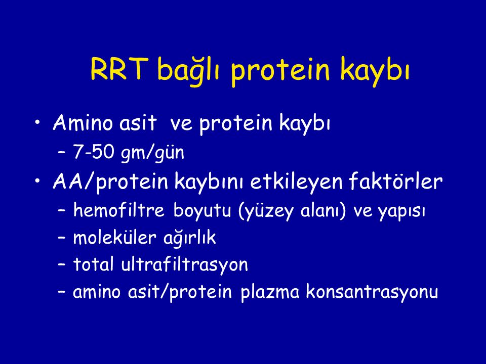 RRT bağlı protein kaybı