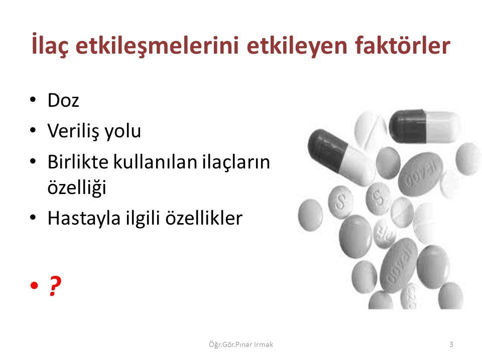 İlaç etkileşmelerini etkileyen faktörler