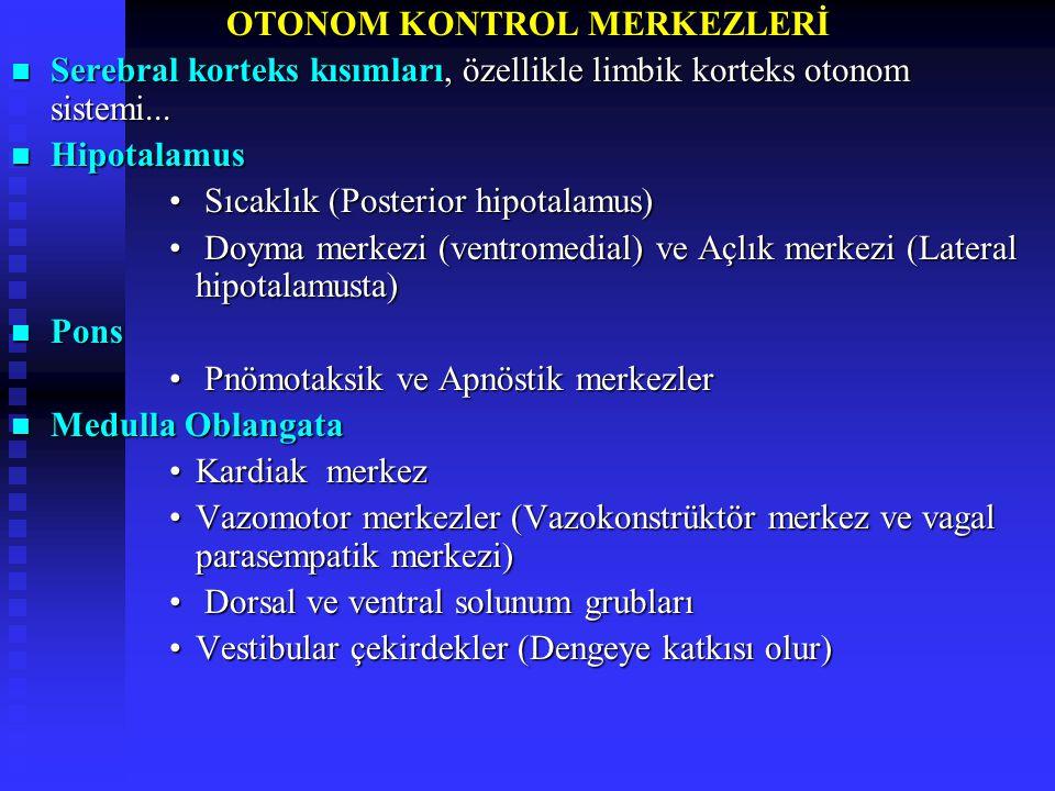 OTONOM KONTROL MERKEZLERİ