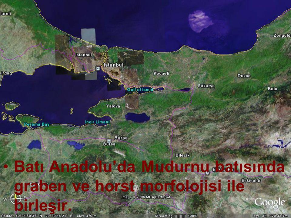 Doç.Dr. Yaşar EREN Batı Anadolu'da Mudurnu batısında graben ve horst morfolojisi ile birleşir.