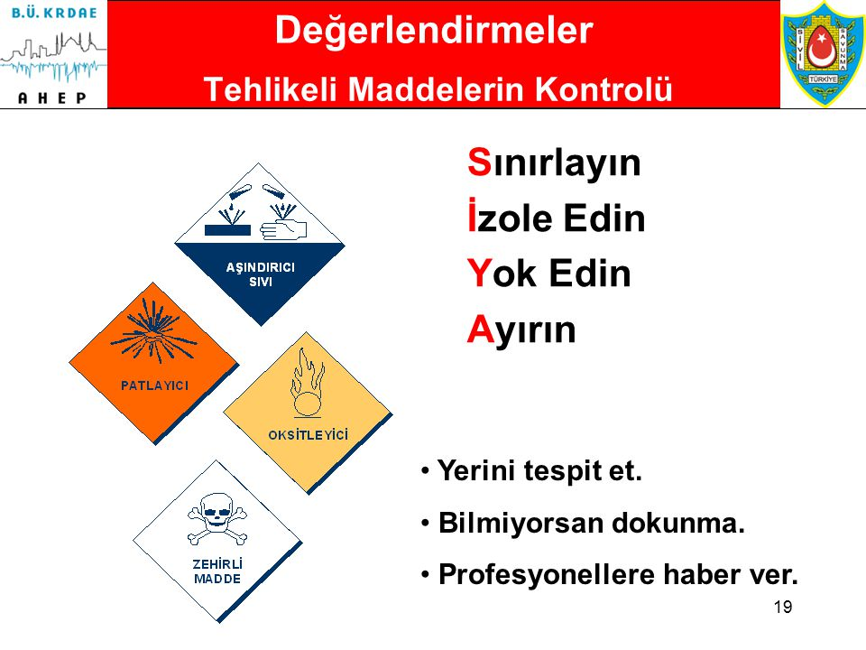Tehlikeli Maddelerin Kontrolü