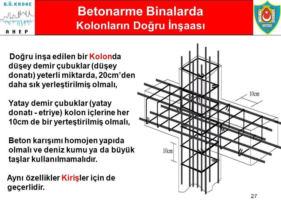 Betonarme Binalarda Kolonların Doğru İnşaası