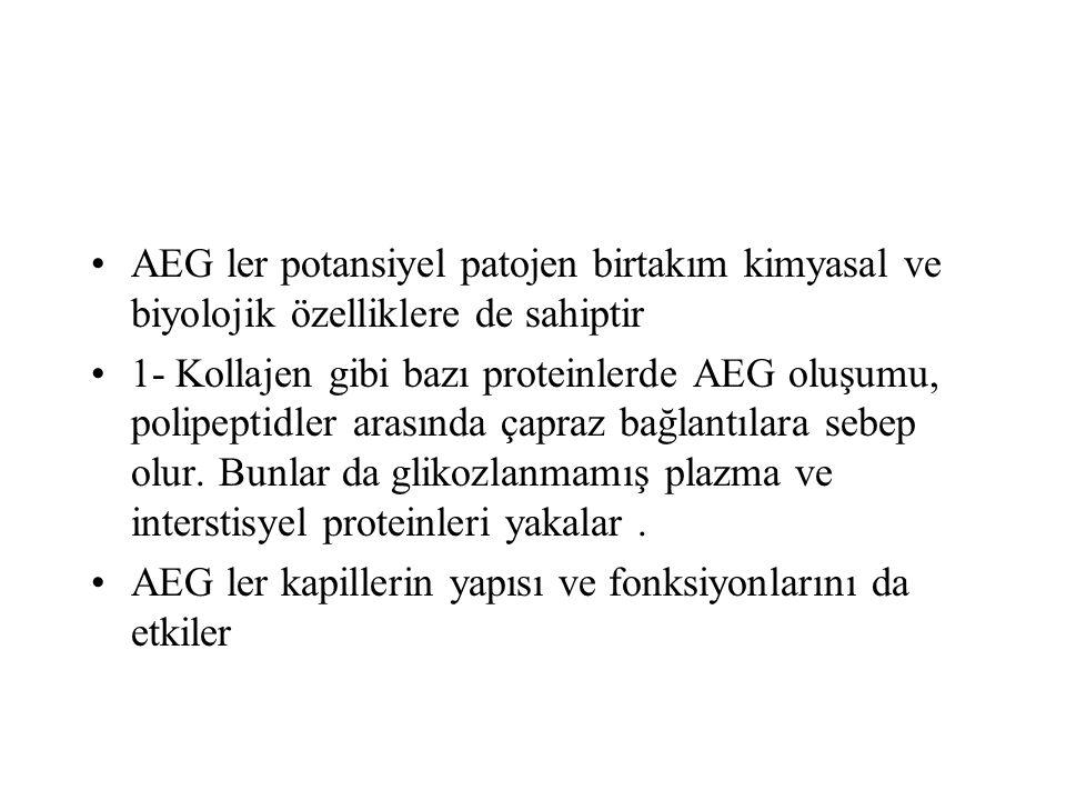AEG ler potansiyel patojen birtakım kimyasal ve biyolojik özelliklere de sahiptir