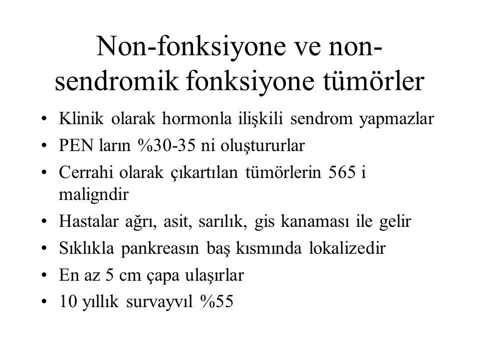 Non-fonksiyone ve non-sendromik fonksiyone tümörler