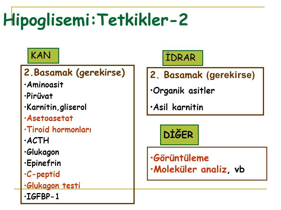 Hipoglisemi:Tetkikler-2
