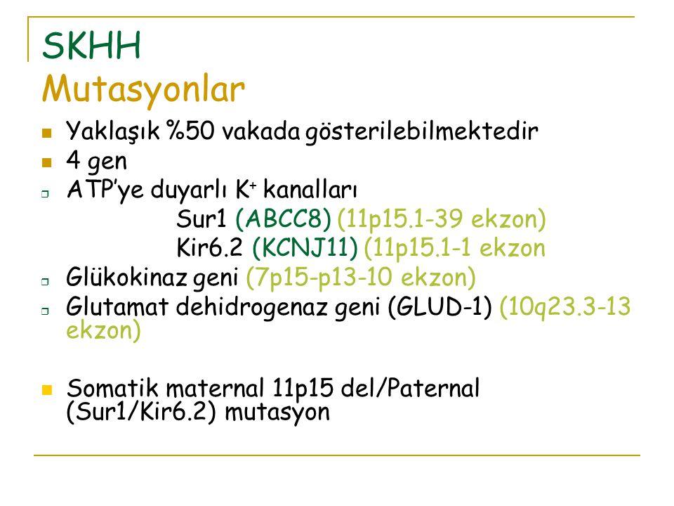 SKHH Mutasyonlar Yaklaşık %50 vakada gösterilebilmektedir 4 gen