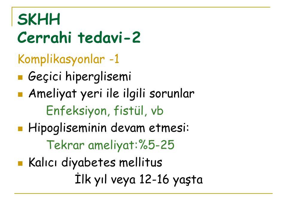 SKHH Cerrahi tedavi-2 Komplikasyonlar -1 Geçici hiperglisemi