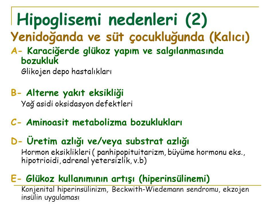 Hipoglisemi nedenleri (2)