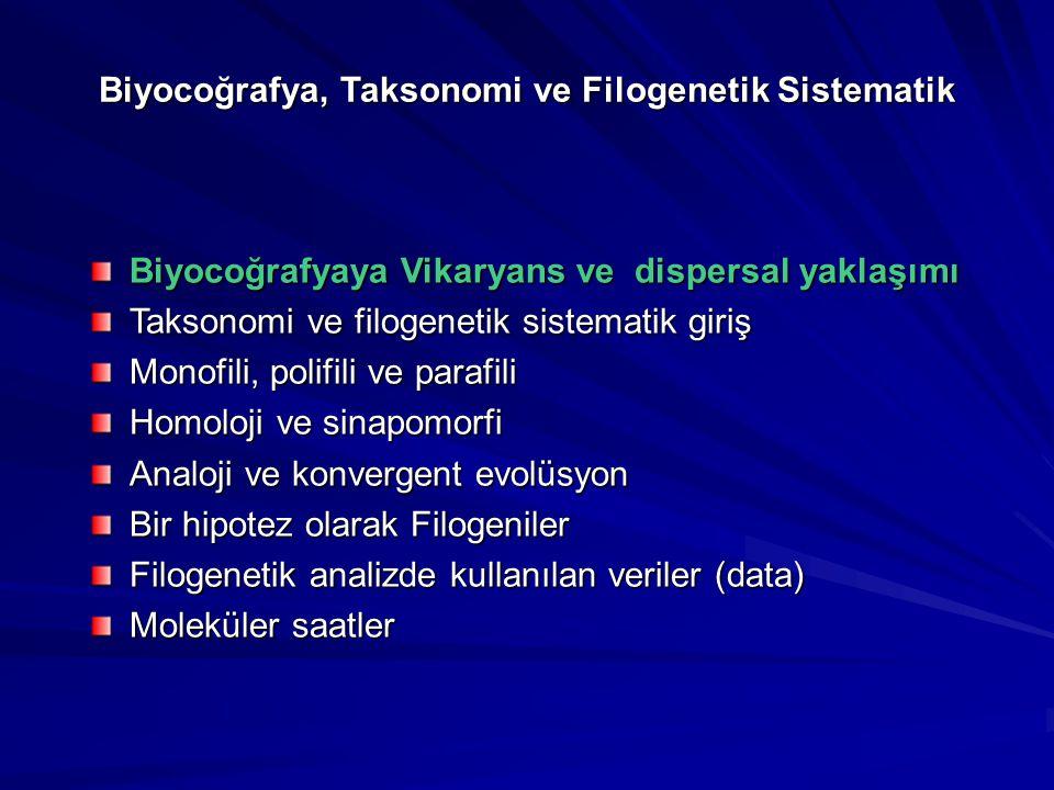Biyocoğrafya, Taksonomi ve Filogenetik Sistematik