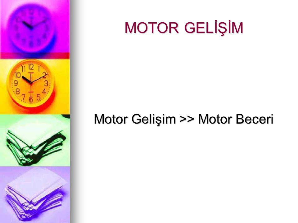 Motor Gelişim >> Motor Beceri
